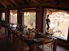 Dining room, Erongo Wilderness Lodge.  Good birding right from the windows