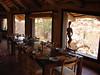 Dining room, Erongo Wilderness Lodge.  Good birding right from the windows