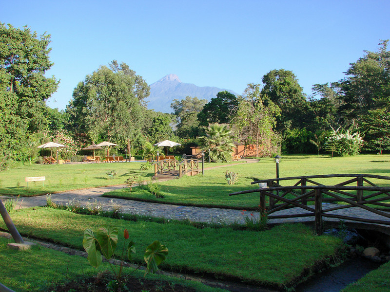Mt. Arusha from Arumeru River Lodge