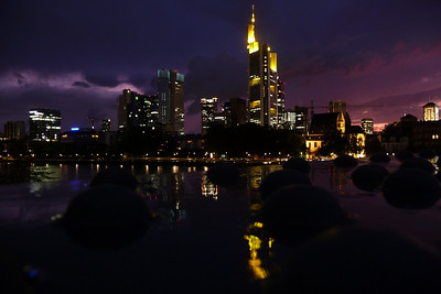 Frankfurt skyline from the Eisener Steg (Iron footbridge)