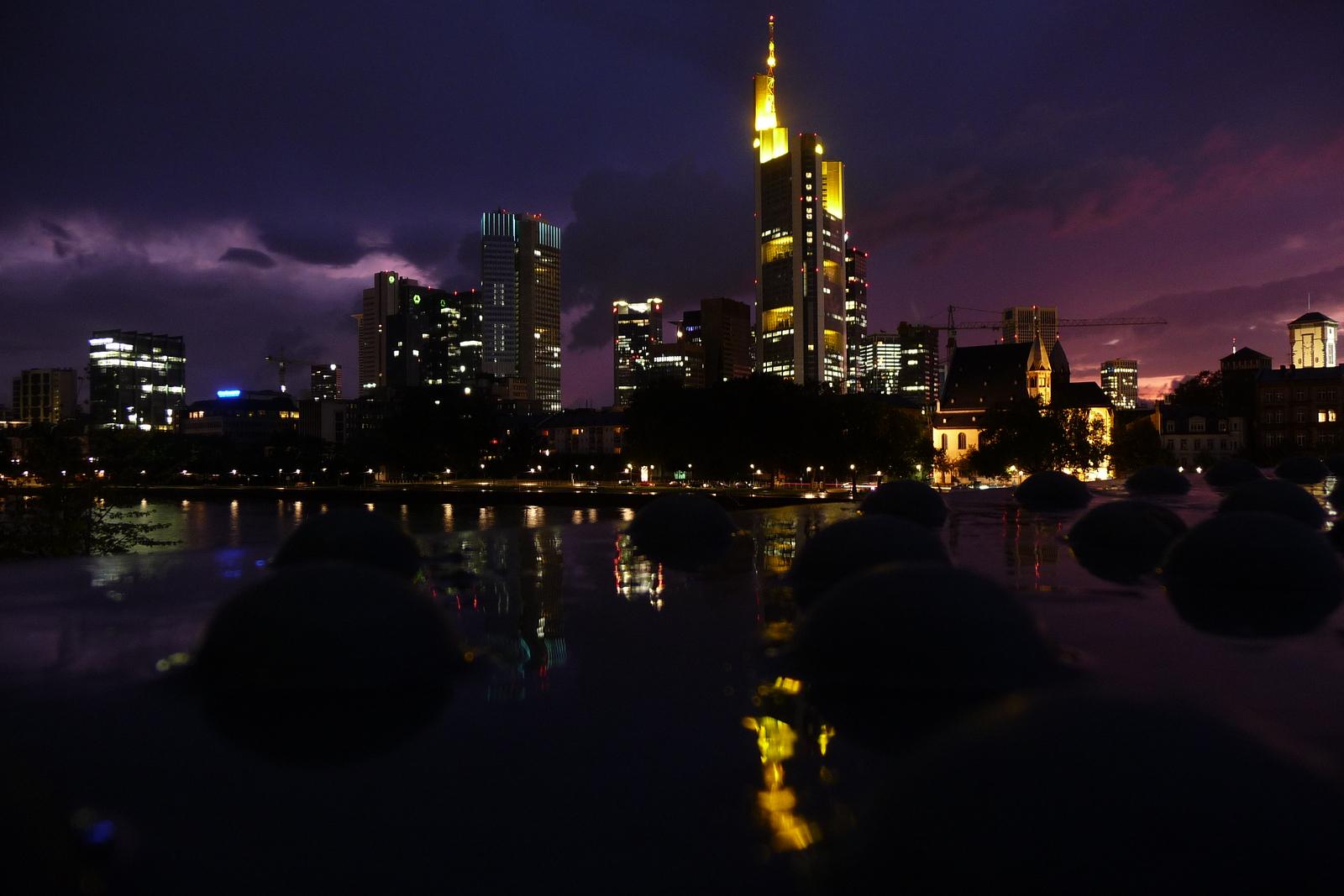 Frankfurt skyline from the Eisener Steg (Iron footbridge)