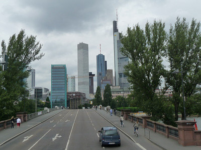 Frankfurt looking north across the Main river