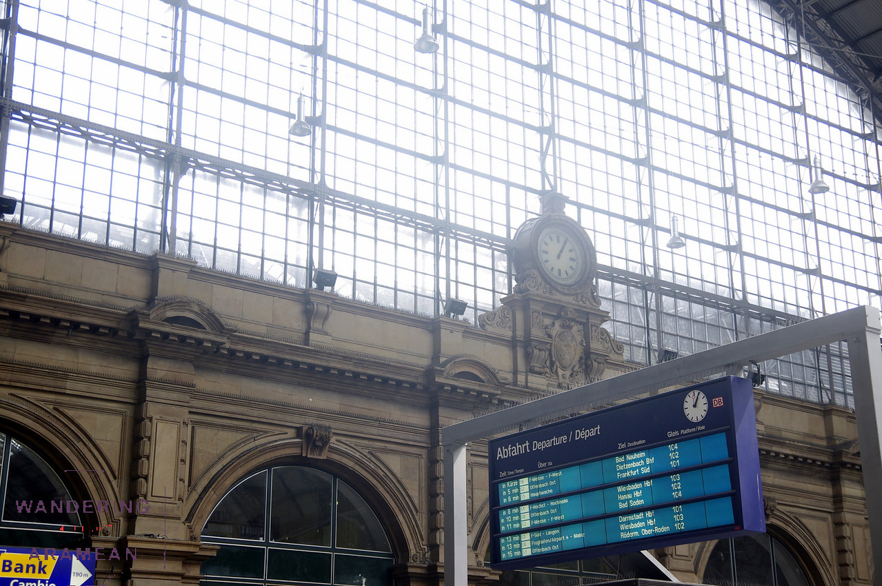 The Hauptbahnhof is rather imposing in town