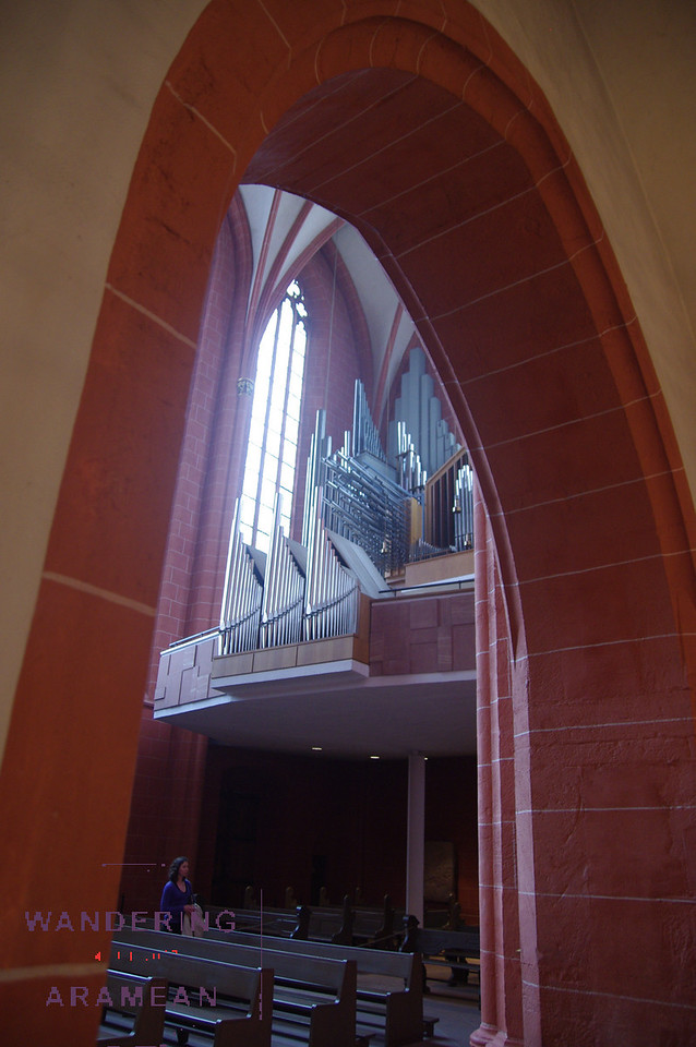 The interior of the cathedral is much more modern, however.