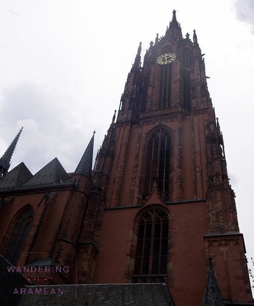 The outside of the main Dom (cathedral) in town still has some of its historical style.