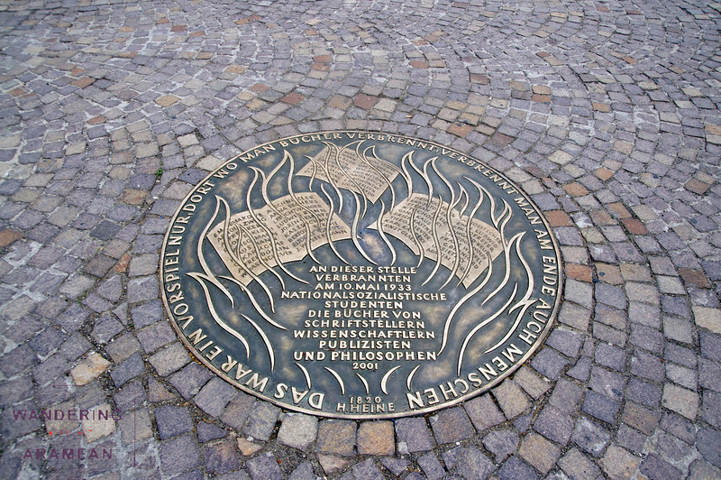 Memorial to a 1933 book burning.