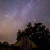 Night Sky over Barn