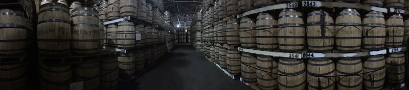 """There's something magical about the warehouse full of barrels of bourbon ageing and awaiting their year for bottling.  The air is thick with the scent of evaporated whiskey -- the """"angels' share"""" as it's taken.  Each barrel loses as much as 5% of its volume to evaporation each year."""