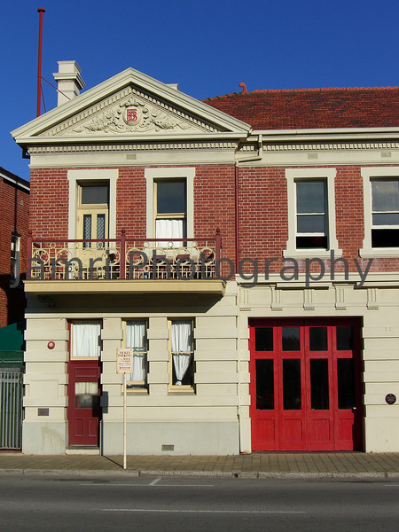 Old Fire Station, this former Fire Station is now a backpackers (upstairs) and an Indian Restaurant (ground level)