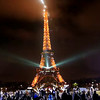 The Eiffel Tower at Christmas time.<br /> Merry Christmas from Ralph and Julie Hajik at RJTravelMedia.