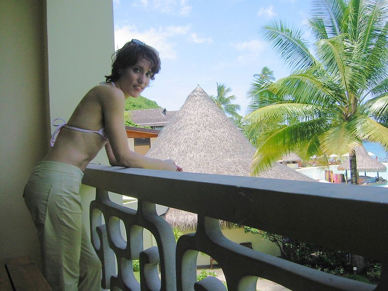 Another shot of our balcony at the Tahiti Beachcomber.