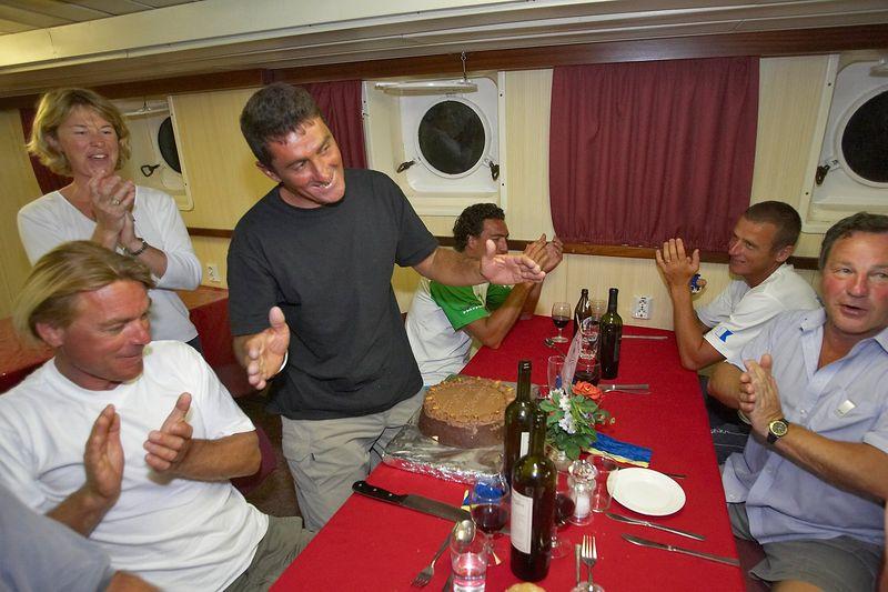 Celebrating Pierre's birthday (Boat - Akademik Shokalskiy)