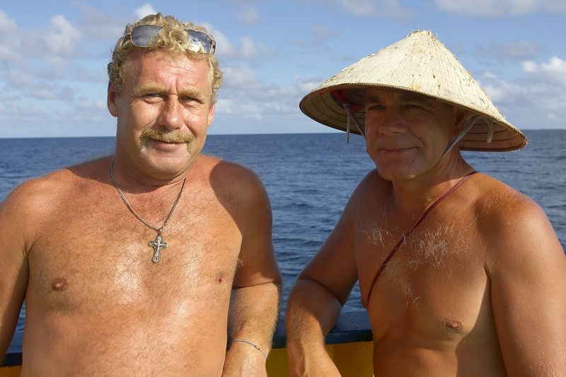 Costa with one of his fellow crew members (Boat - Akademik Shokalskiy)