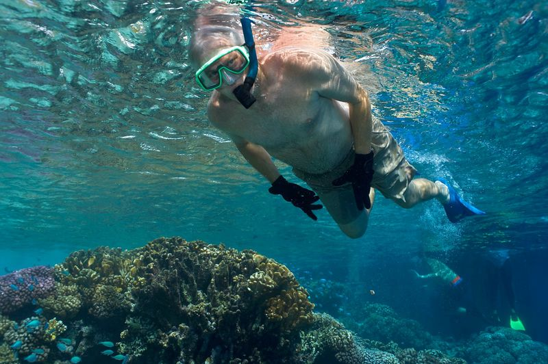 Bob Spane, snorkeling (Fakarava - South Pass Resort)