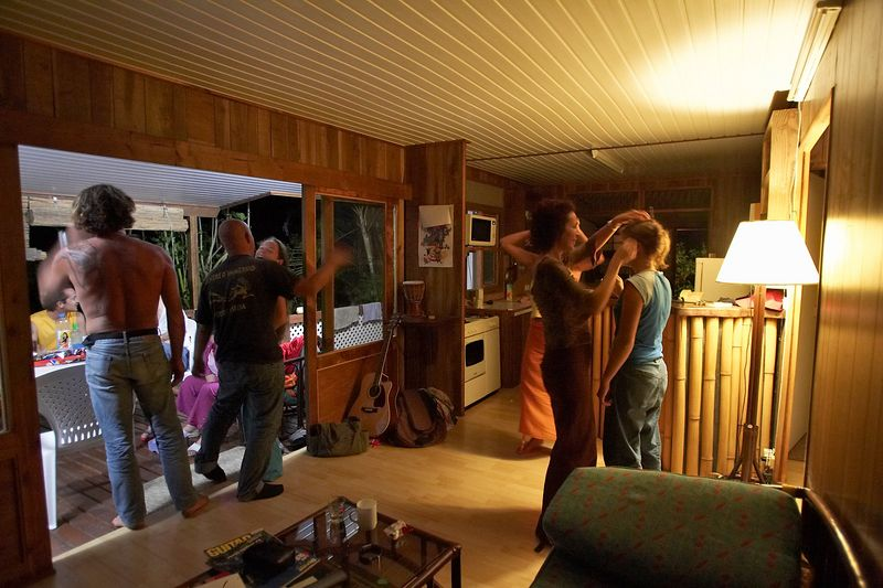 Guillaume, Pef, Chloe, Allette, and Mahiti (Moorea - Guillaume Vilcot Residence)