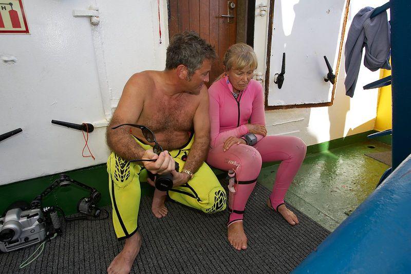 Douglas Seifert and Valerie Taylor (Boat - Akademik Shokalskiy)
