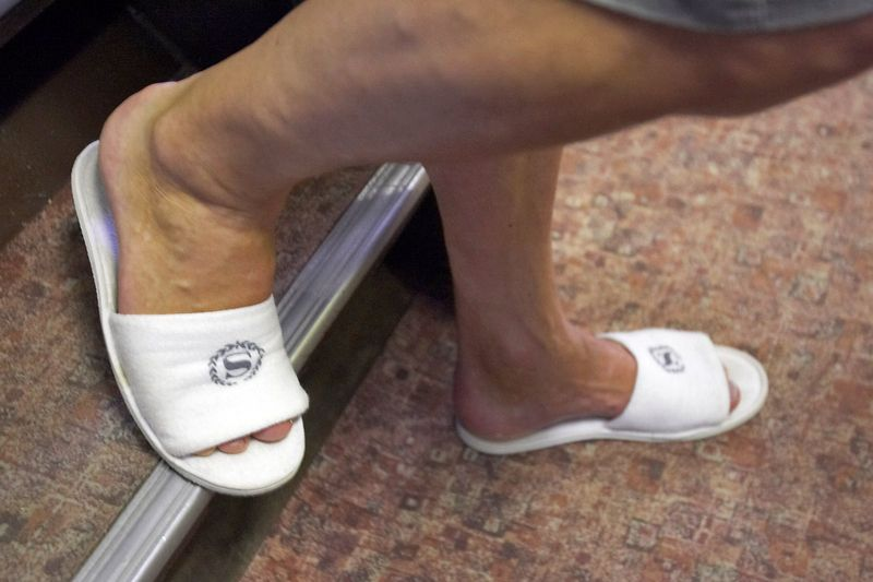 Patrice Richard, wearing Sheraton slippers (Boat - Akademik Shokalskiy)