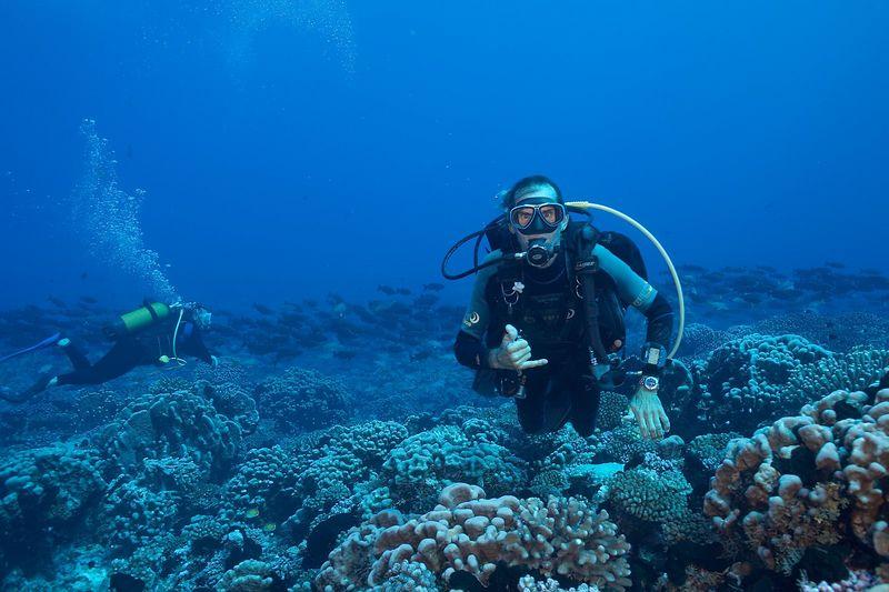 Fakarava Dive Center's Serge Howald (Fakarava - N Pass Drift)