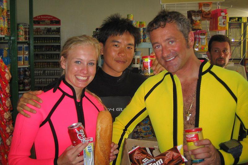 Kristina Gossman, Eric Cheng, Douglas Seifert, and Amora mustard (Rangiroa - Misc Topside)