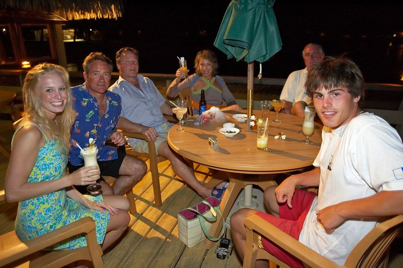 Krissy, Douglas, Patrice, Marty, Guy, and Locky (Rangiroa - Kia Ora Resort)