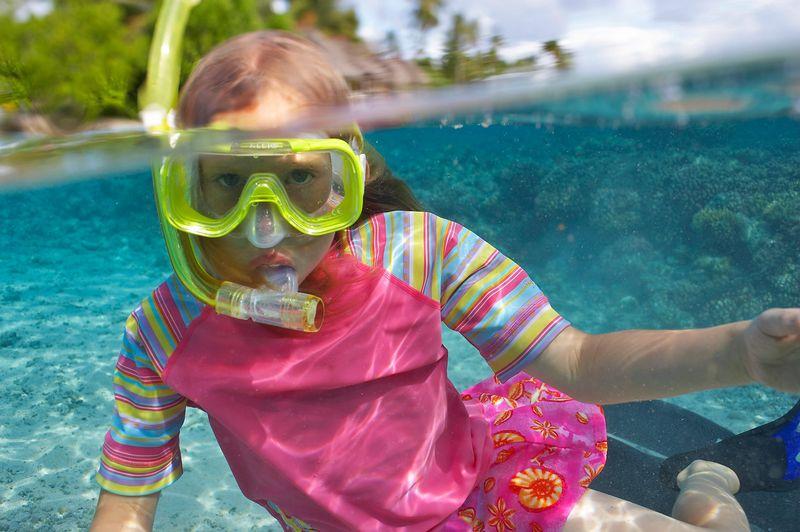 Kimberly McDowell, snorkeling (Fakarava - South Pass Resort)