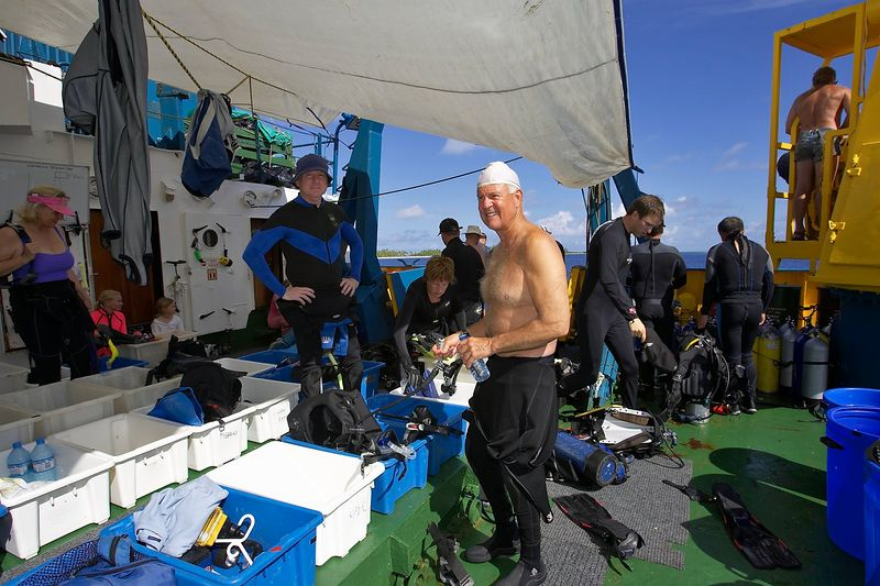 Chuck Ott and Ken Howard on the dive deck (Boat - Akademik Shokalskiy)