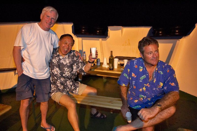 Ken Howard, Jerry Watanabe, Douglas Seifert (Boat - Akademik Shokalskiy)