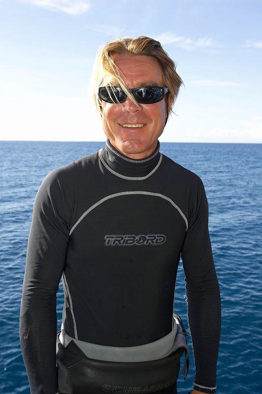 Our dive guide, Seb Bertaut (Boat - Akademik Shokalskiy)