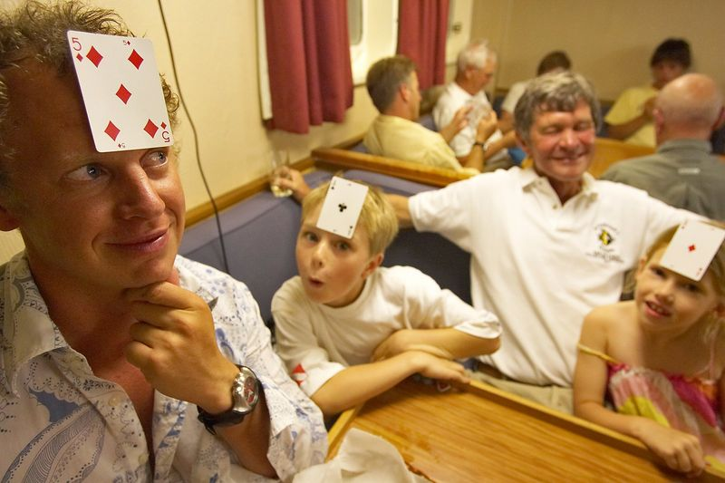 Brett, Timothy, Wes, and Kimberly.  Timothy and Kimberly both have aces (Brett lost) (Boat - Akademik Shokalskiy)