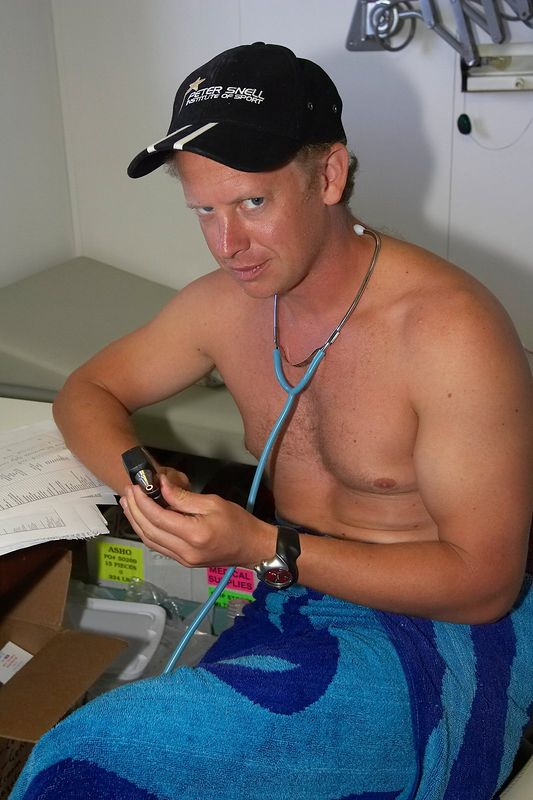 Brett Gerrard, ship doctor (Boat - Akademik Shokalskiy)