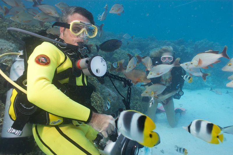 Douglas Seifert and Krissy Gossman (Rangiroa - The Aquarium)