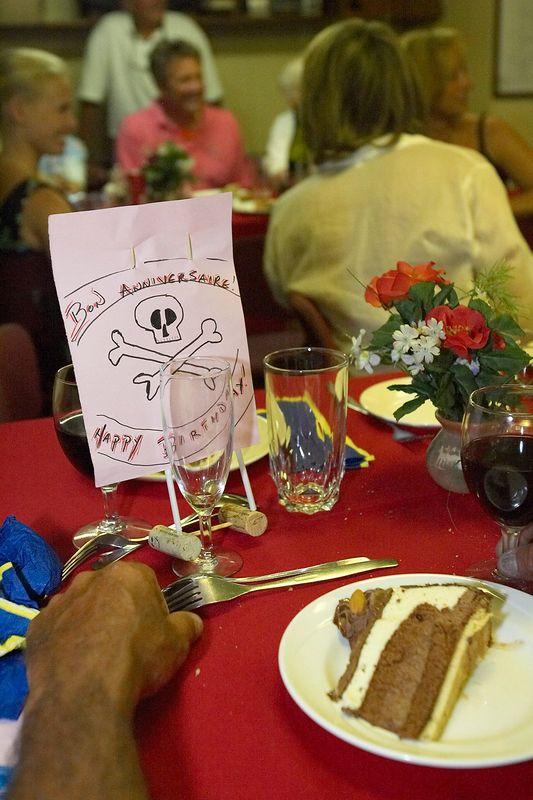 Pierre's cake and card (Boat - Akademik Shokalskiy)