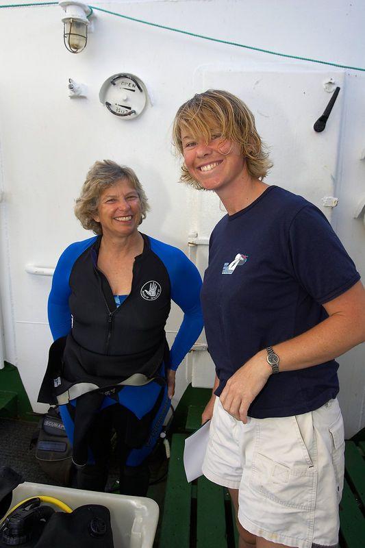 Pam McNay and Belinda Sawyer (Boat - Akademik Shokalskiy)