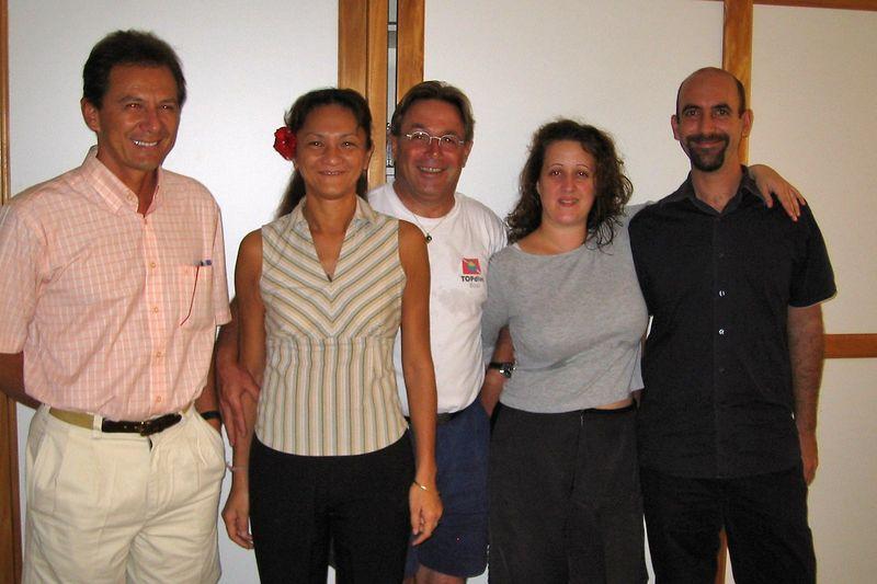 The e-Tahiti Travel staff