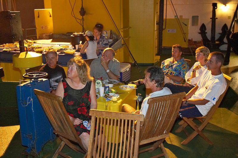 Costa and Igor join us for a final dinner (Boat - Akademik Shokalskiy)