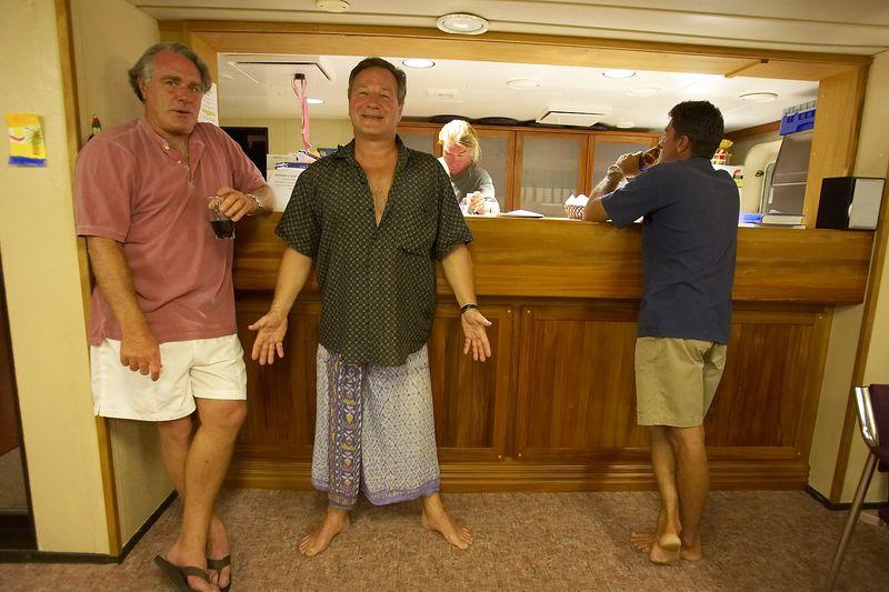 Guy de la Valdene, Patrice Richard, Seb Bertaut, and Pierre Tricottet (Boat - Akademik Shokalskiy)