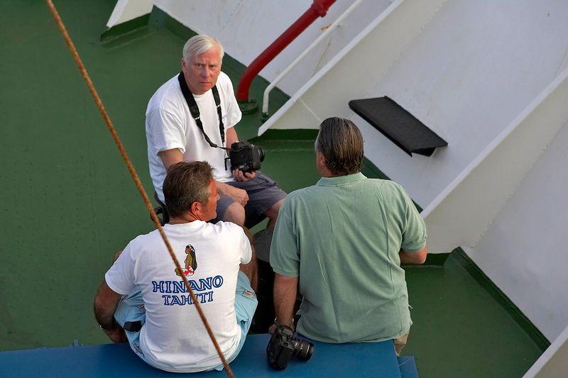 Ken Howard, Douglas Seifert, and Guy de la Valdene (Boat - Akademik Shokalskiy)