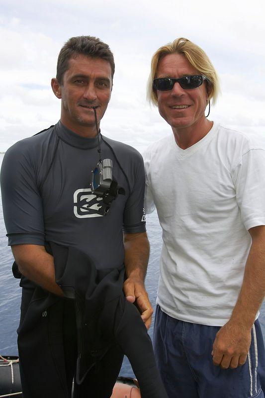 Long-time buddies Seb Bertaut and Pierre Tricottet (Boat - Akademik Shokalskiy)