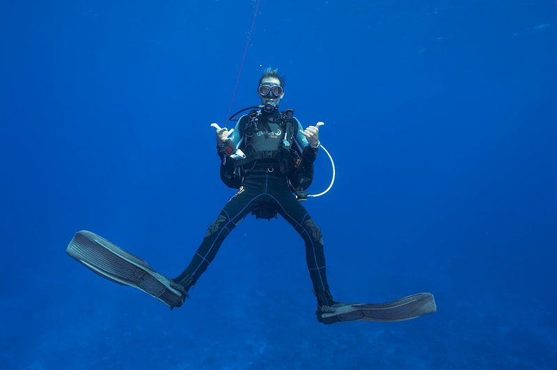 Serge Howald of Fakarava Dive Center (Fakarava North Pass Drift)