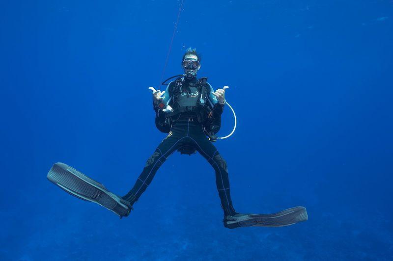 Serge Howald of Fakarava Dive Center (Fakarava North Pass Drift)