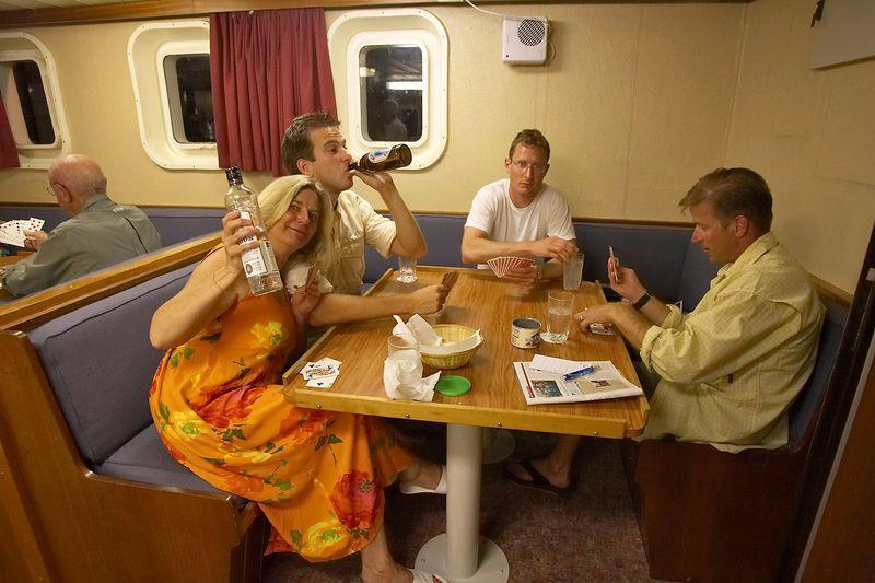 Playing cards: Pat Hamilton, J.P. Spane, Hal Tweto, and Rocky Spane (Boat - Akademik Shokalskiy)