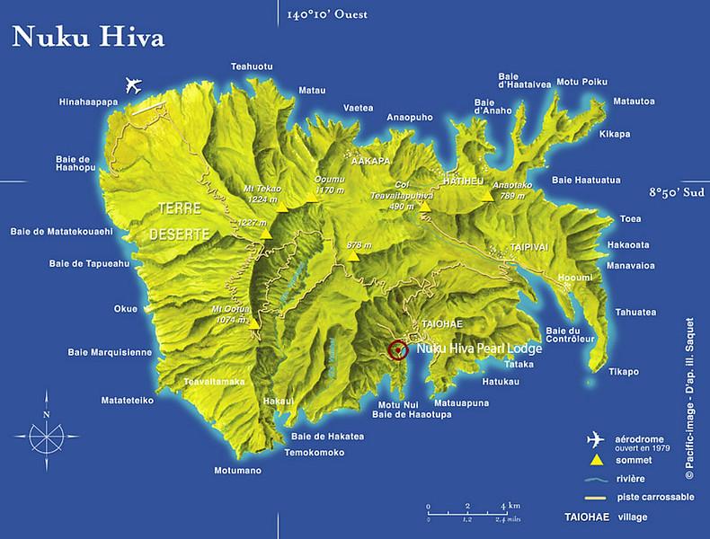 At 130 square miles, Nuku Hiva is slightily smaller than Lanai.