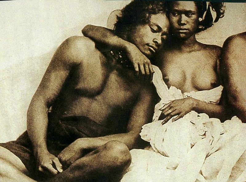 King Vewitheu, and his wife, Nuku Hiva (1870).