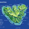 Tiny Moorea, at 52 square miles, is smaller than Niihau (69sm).