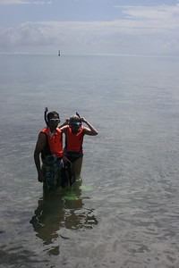 Sheri & Harvey went snorkeling.
