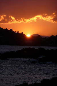 Sunset on the French Riviera