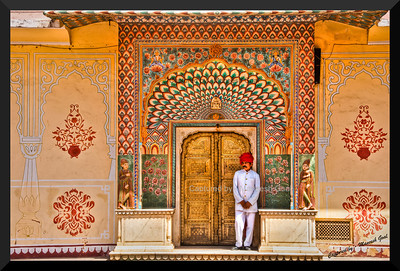 Royal Guard inside the City Palace, Jaipur (Rajasthan)