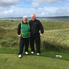 Jim Rogan with caddy, Murvagh