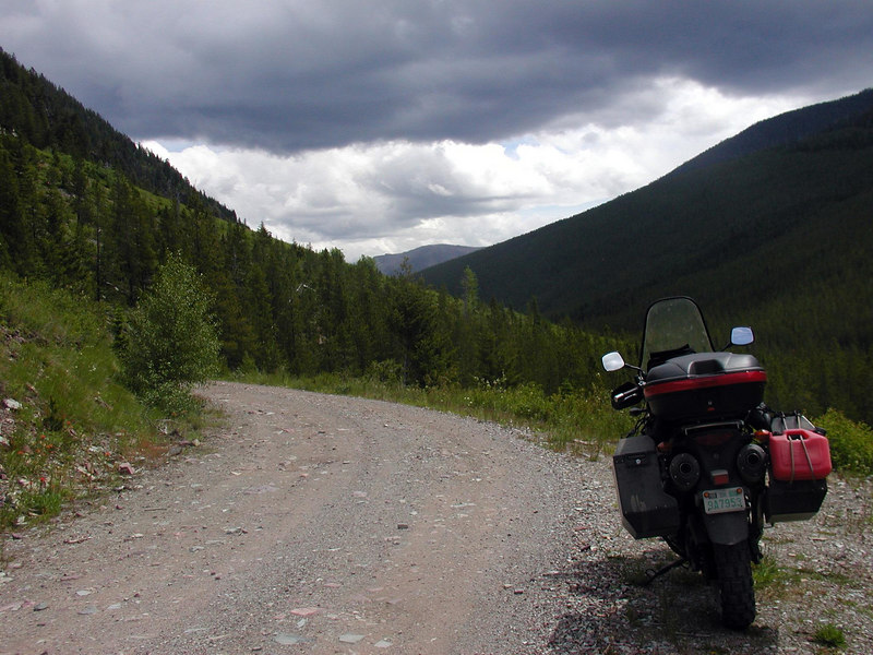 Weather anyone?  Lets see......rain on dirt road = mud...hmmmm mud on rocks in road going up the side of a mountain= riding on marbles...we don't get that in Oklahoma