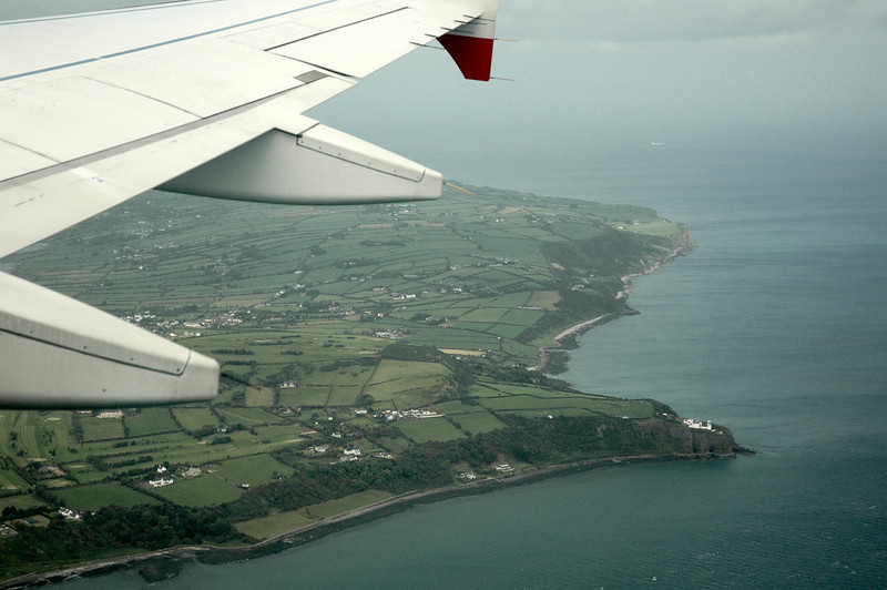 Ireland from an aeroplane